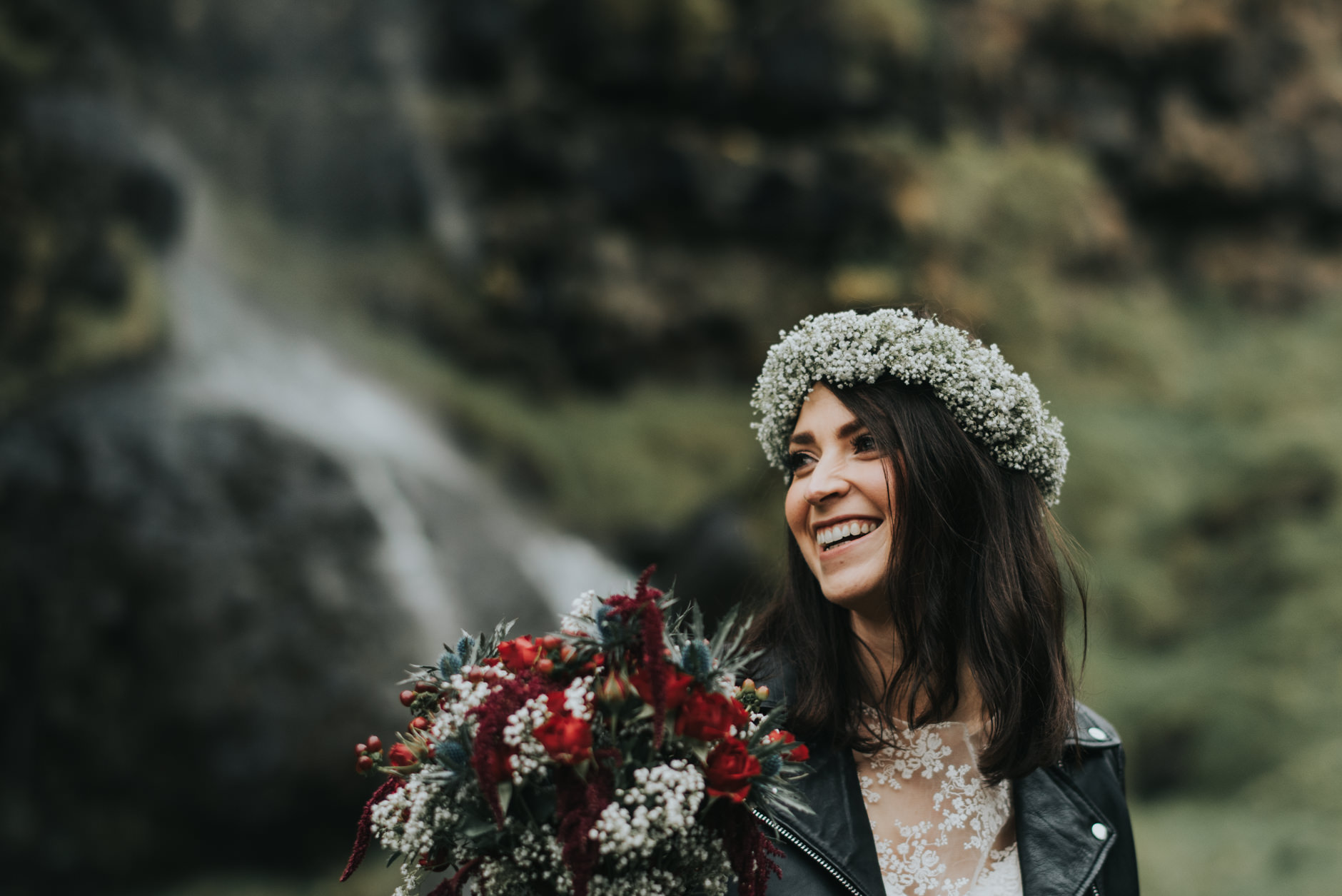 Iceland elopement at Seljalandsfoss, Skogafoss and Vic