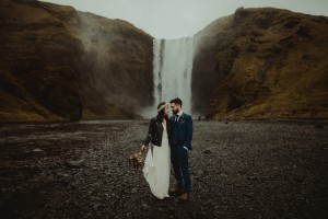 Iceland elopement at Seljalandsfoss, Skogafoss and Vic